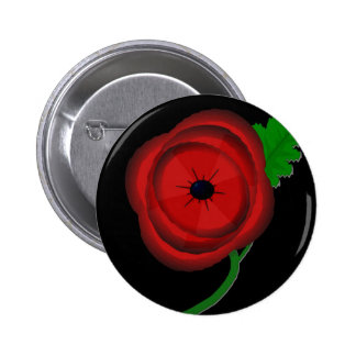 Poppy day - badge pinback buttons