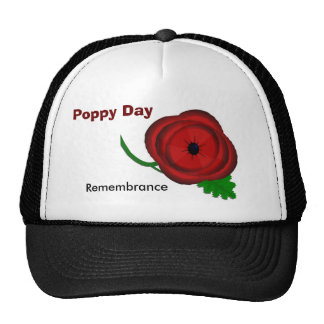 Poppy Day, Remembrance cap Mesh Hat