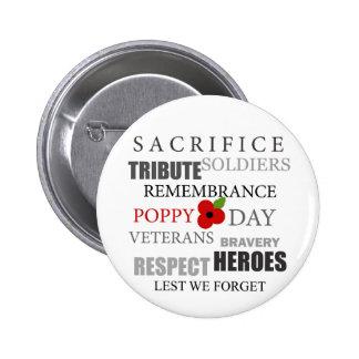 Poppy day words - Badge