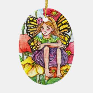 Poppy Fairy Christmas Ornament