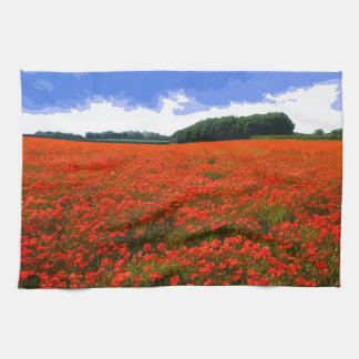 POPPY FIELD 3 HAND TOWEL