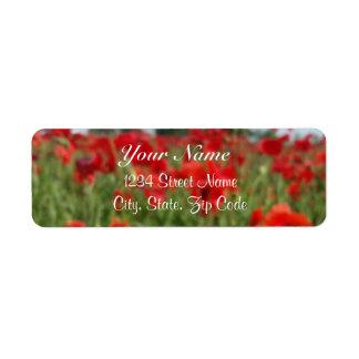 Poppy Field Address Labels