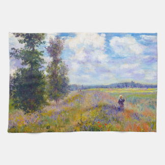 Poppy Field, Argenteuil, 1875 Claude Monet Tea Towel