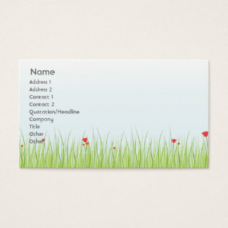 Poppy Field - Business Business Card