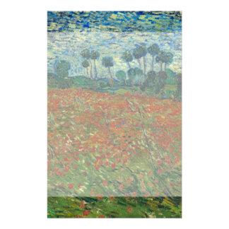 Poppy Field by Vincent Van Gogh 14 Cm X 21.5 Cm Flyer
