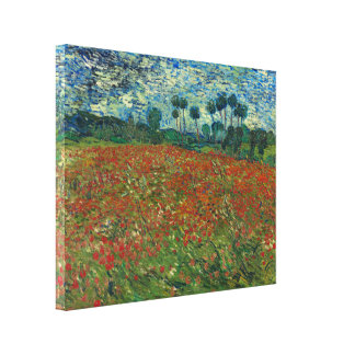 Poppy Field by Vincent Van Gogh Canvas Print