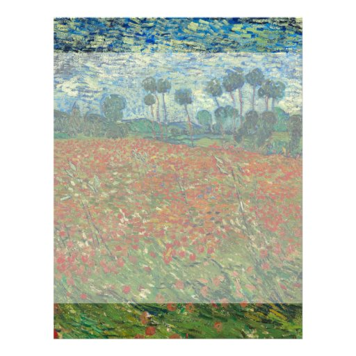 Poppy Field by Vincent Van Gogh Full Color Flyer