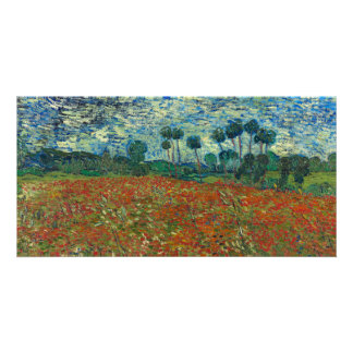 Poppy Field by Vincent Van Gogh Photo Cards