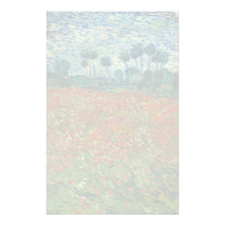 Poppy Field by Vincent Van Gogh Stationery