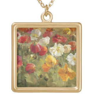 Poppy Field Gold Plated Necklace