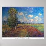 Poppy Field in Summer by Claude Monet Posters