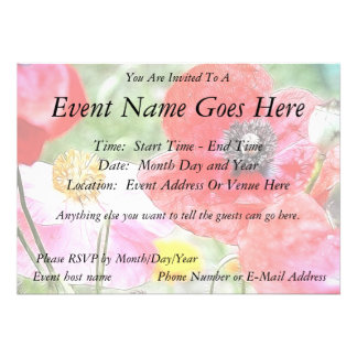 Poppy Field Personalized Announcements
