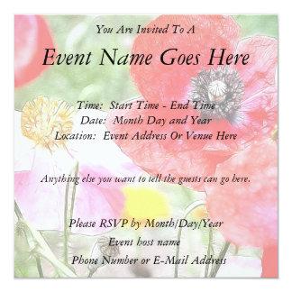Poppy Field Personalized Invitations
