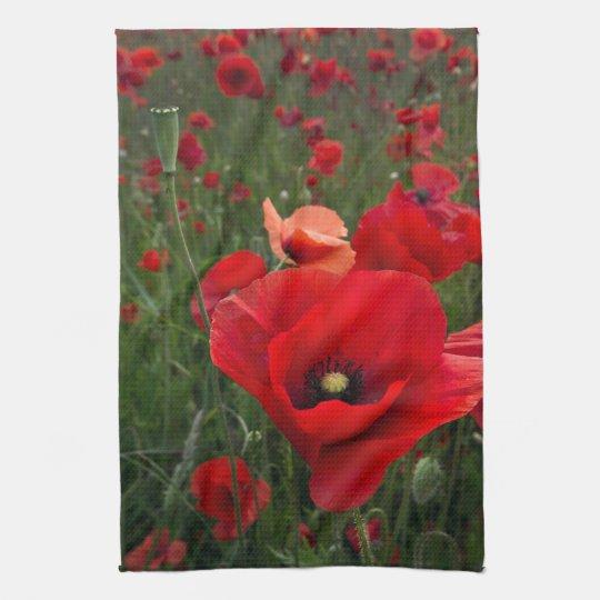 Poppy Field Kitchen Towel/Tea Towel
