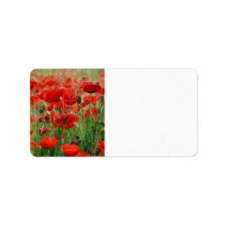 Poppy Field Label