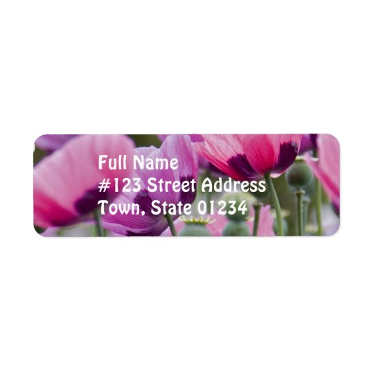 Poppy Field Mailing Label Return Address Label