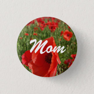 Poppy Field Mom Button