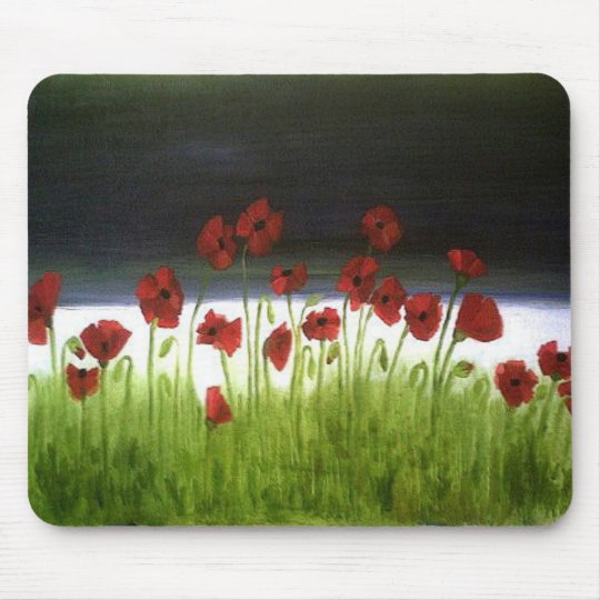 Poppy Field Mouse Pad
