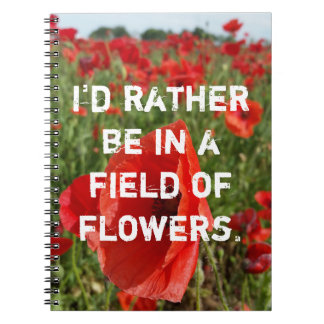 Poppy Field Notebook