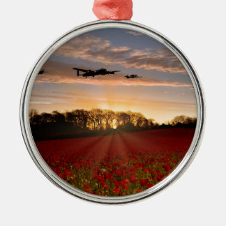 Poppy Field Pass Silver-Colored Round Decoration
