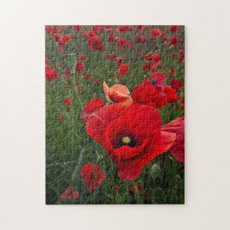 Poppy Field Puzzle/Jigsaw Puzzle