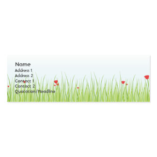Poppy Field - Skinny Business Cards