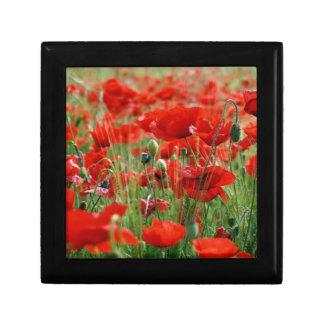Poppy Field Small Square Gift Box