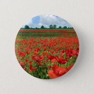 Poppy Fields 6 Cm Round Badge