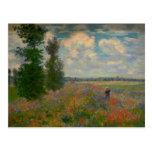 Poppy Fields Claude Monet Fine Art Postcard