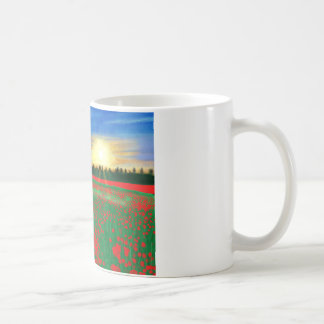 Poppy fields coffee mug