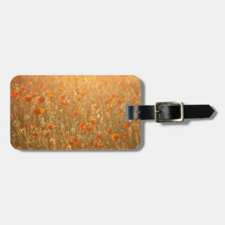 Poppy fields in the sunshine bag tag