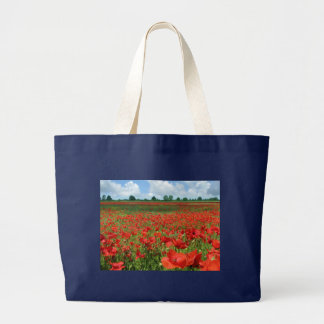 Poppy Fields Large Tote Bag