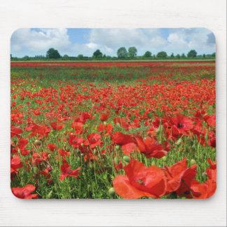 Poppy Fields Mousepads