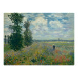 Poppy Fields near Argenteuil - Claude Monet Posters