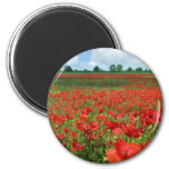 Poppy Fields Refrigerator Magnet
