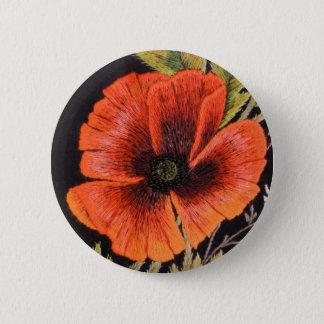 Poppy Flower 6 Cm Round Badge