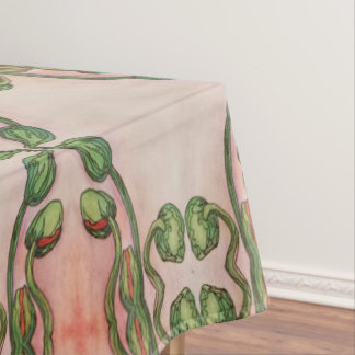 poppy flower buds tablecloth