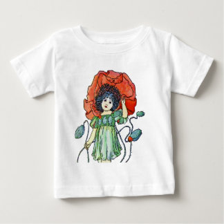 Poppy Flower Girl Baby T-Shirt