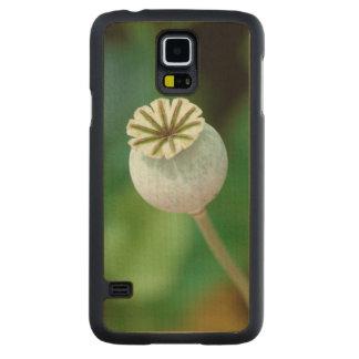 Poppy Flower Head Seed, Western Cape Carved Maple Galaxy S5 Case