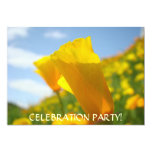 POPPY FLOWER Invitations Events Holiday Parties 13 Cm X 18 Cm Invitation Card