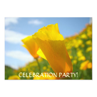 """POPPY FLOWER Invitations Events Holiday Parties 5"""" X 7"""" Invitation Card"""