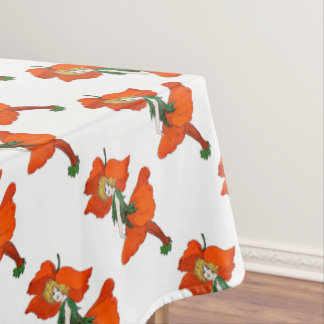 Poppy Flower Vintage Cute Flower Child Girl Kids Tablecloth