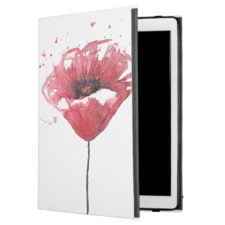 """Poppy flower, watercolor iPad pro 12.9"""" case"""