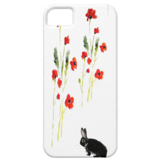 Poppy Flowers Bunny Rabbit Barely There iPhone 5 Case