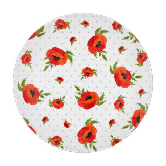 Poppy Flowers Cutting Board