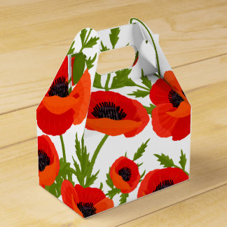 Poppy Flowers Favour Box