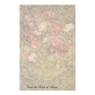 Poppy Flowers in Meadow Handmade Paper Stationery