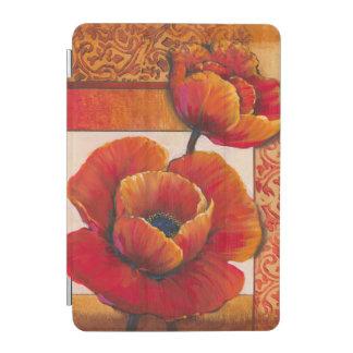 Poppy Flowers on Tan and Orange Background iPad Mini Cover