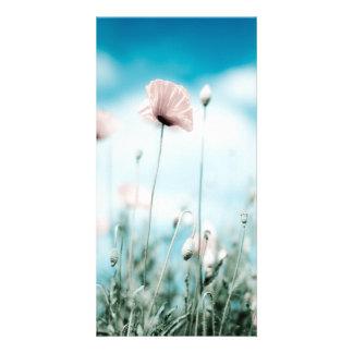 Poppy Flowers Customized Photo Card