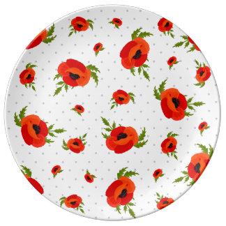 Poppy Flowers Plate